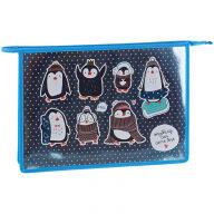 """Папка для тетрадей 1 отделение, А4, ArtSpace """"Пингвинята"""", ламинированный картон, конгрев, фольга, н"""