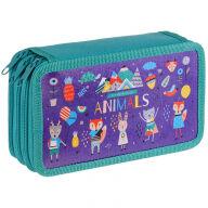 """Пенал 3 отделения, 190*110 ArtSpace """"Animals"""", ламинированный картон"""