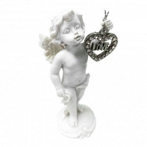 "Фигура ""Ангел"" белый с метал. сердечком размер 4*5*11см"