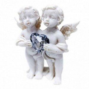 """Фигура """"Ангел"""" белый с сердечком размер 12*8*8см"""