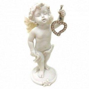 """Фигура """"Ангел"""" белый с сердечком размер 4*5*11см"""