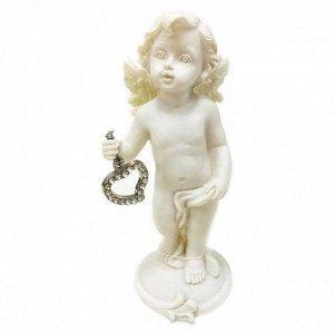 """Фигура """"Ангел"""" белый с сердечком размер 6*6*12см"""