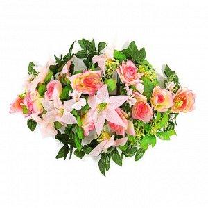 Букет свадебный розовый на радиатор