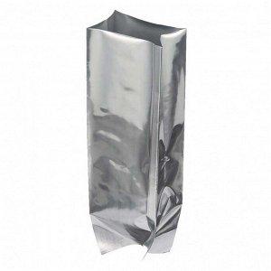 Пакет металл с центральным швом серебро размер 120*70*400мм