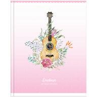 "Дневник для музыкальной школы, 48л. ""Гитара. Цветы"", глянцевая ламинация"
