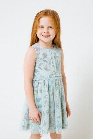 Платье(Весна-Лето)+girls (дымчатый нефрит, колибри к279)