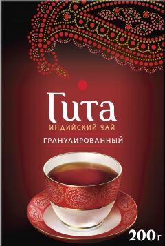Черный гранулированный чай черный Принцесса Гита Медиум, 200 г