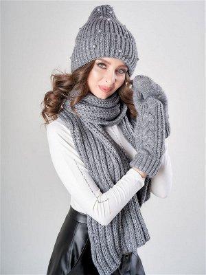 JAGGA /  Комплект Алина с шарфом и варежками