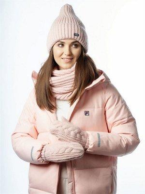 JAGGA /  Вязаный зимний комплект Эмма с вязаным снудом и варежками