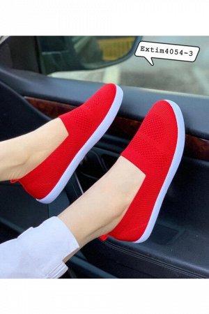 Женские тапочки 4054-3 красные(бордовые)