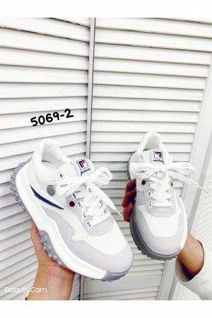 Женские кроссовки 5069-2 белые