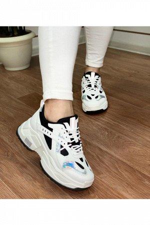 Женские кроссовки 5012-1 черно-белые
