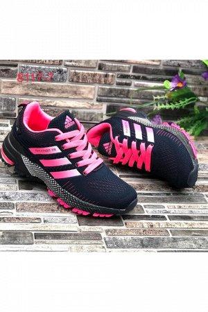 Женские кроссовки 8117-7 темно-синие с розовым