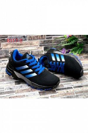 Женские кроссовки 8117-5 черно-синие