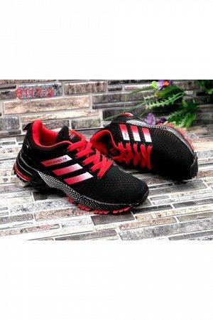 Женские кроссовки 8117-3 черно-красные