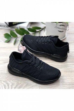 Женские кроссовки 8122-2 черные