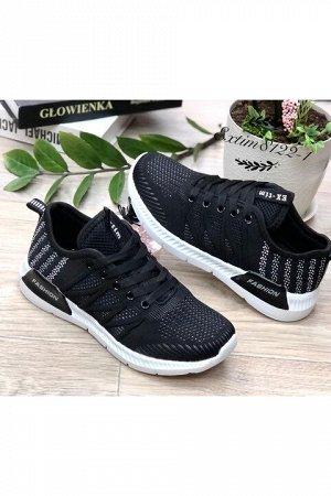 Женские кроссовки 8122-1 черные