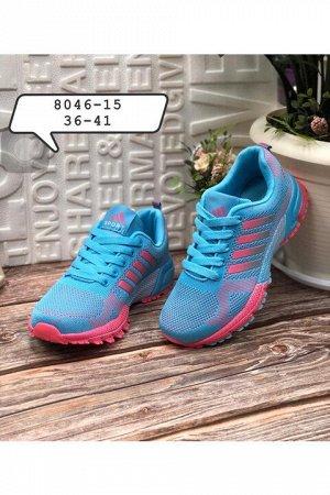 Женские кроссовки 8046-15 голубые с розовым