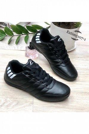Женские кроссовки 5107-1 черные