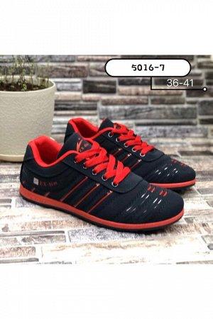 Женские кроссовки 5016-7 темно-синие с красным