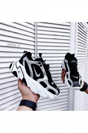 Женские кроссовки 2003-3 черно-белые