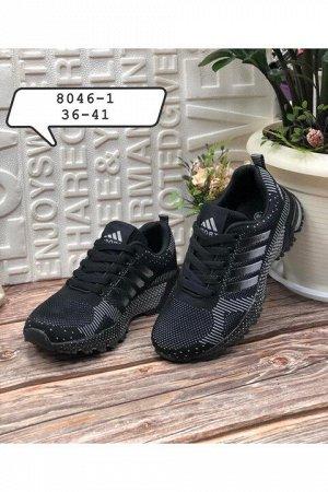 Женские кроссовки 8046-1 черные