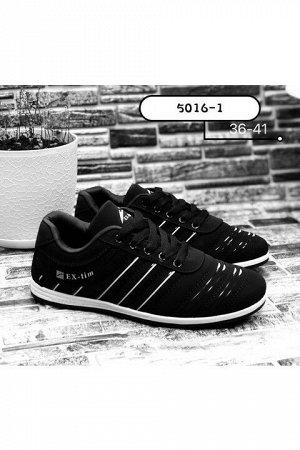 Женские кроссовки 5016-1 черные
