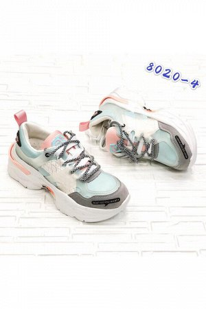 Женские кроссовки 8020-4 мятные