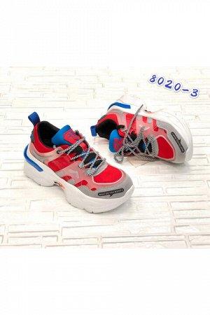 Женские кроссовки 8020-3 красные