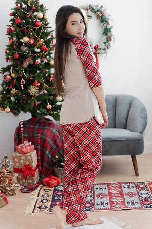 Пижама с брюками ПЖ 021 (Веселый олень)