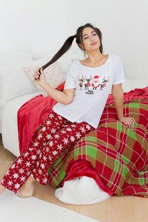 Пижама с брюками ПЖ 019 (Олени)