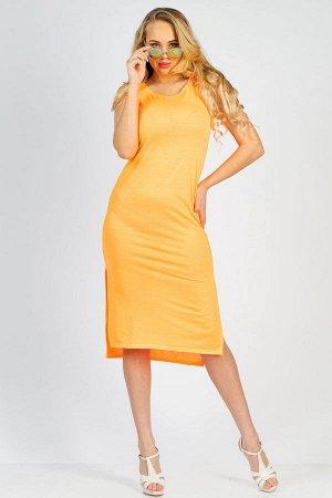 Платье П 007 (Оранжевый неон)
