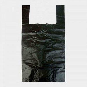 Пакет-майка 240*420мм 18мкм, черная