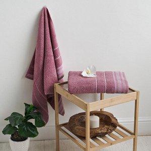 Полотенце махровое С-Барбара 70х130 мальва Heather Rose