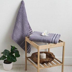 Полотенце махровое С-Барбара 50х90 перламутр Lavender Gray