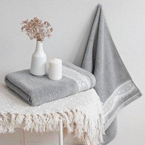 Полотенце махровое Шантильи 50x90 серый Sleet grey