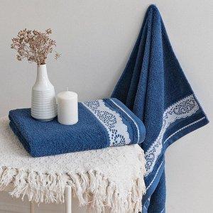 Полотенце махровое Шантильи 50x90 синий Denim
