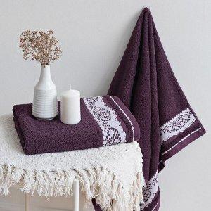Полотенце махровое Шантильи 50x90 сливовый Prune