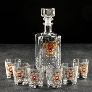 Набор питьевой АС-ДЕКОР «Герб России», графин 500 мл, стопка 50 мл 6 шт