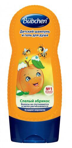"""Bubchen Детский шампунь и гель для душа """"Спелый абрикос"""", 230 мл"""