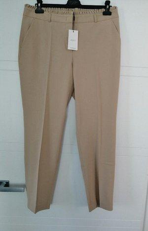 Укороченные брюки с оборкой на талии