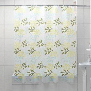 Штора для ванной комнаты Доляна «Золотая осень», 180?180 см, EVA