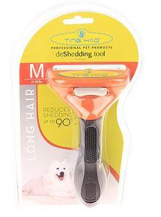 Фурминатор с самоочисткой для длинношерстных собак Medium Dog