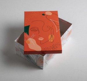 Коробка подарочная Девушка 01