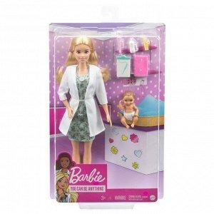 Кукла Mattel Barbie Доктор педиатр с малышом пациентом1