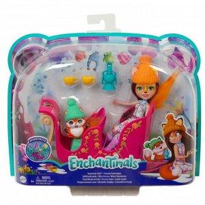 Игровой набор Mattell Enchantimals Рождественские сани с Фелисити Лис49