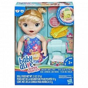 Кукла Hasbro BABY ALIVE Малышка и макароны с аксессуарами1
