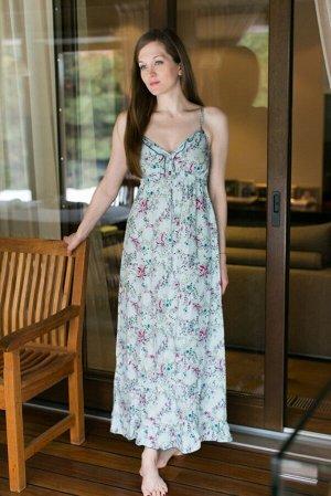Платье 45176539 цвет зеленый