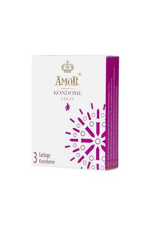 Ароматизированные презервативы AMOR FRUIT 18 см (3 шт)
