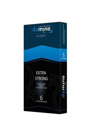 Гладкие особо прочные презервативы DOMINO Extra Strong (6 шт)